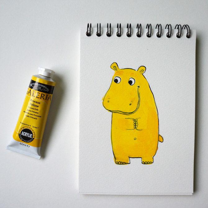 žlutá barva a hroch