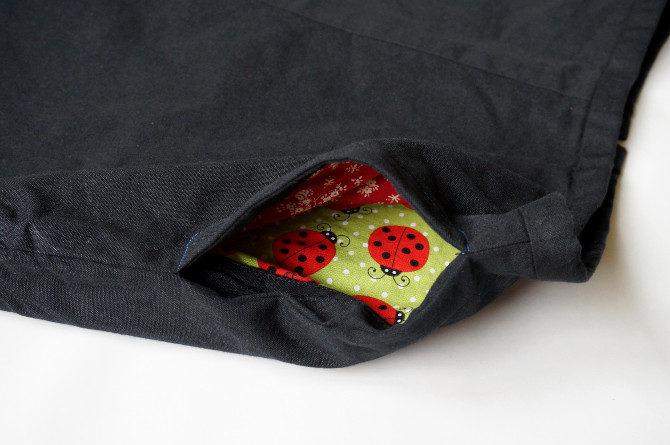 sukně - kapsa v bočním švu