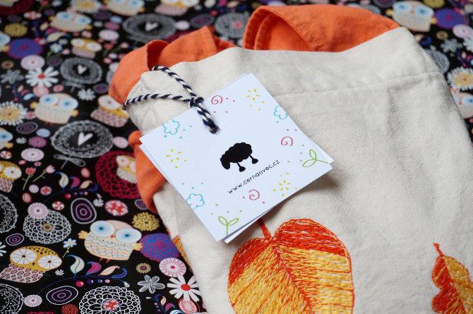 černá ovec logo taška vyšívaná
