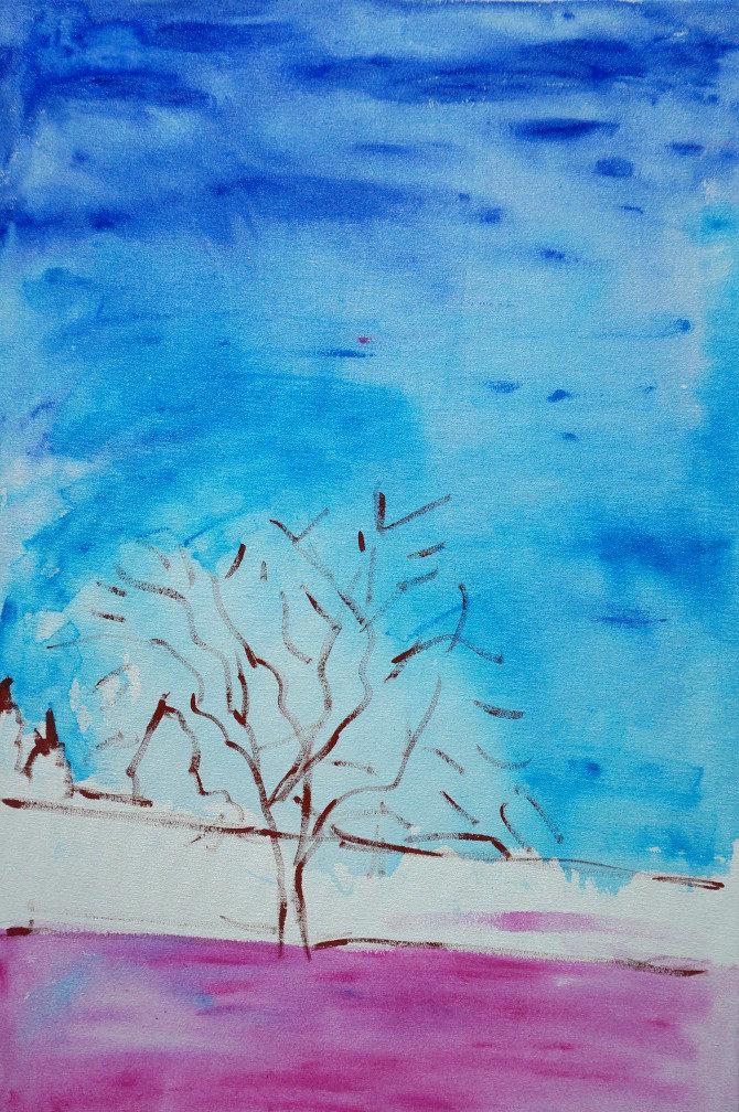 obraz Pole, louka, strom