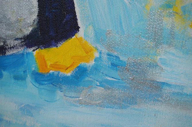 obraz tučňák detail