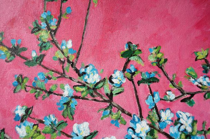 obraz kvetoucí strom růžová