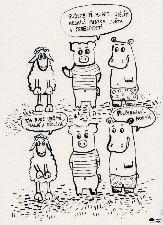 Komiks černá ovec - medaile mistra světa v sebelítosti