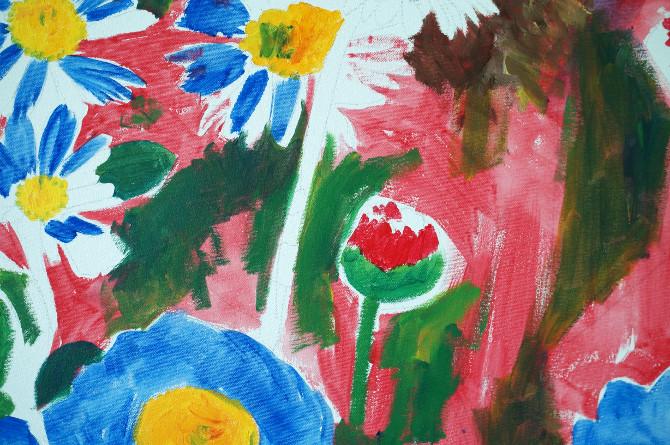 malování obrazu Sedmikrásky