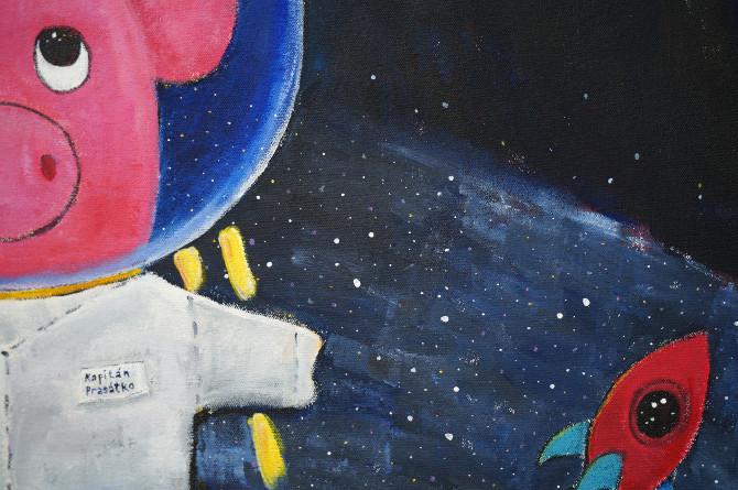 obraz - Kapitán Prasátko opouští Mléčnou dráhu - Captain Piggy