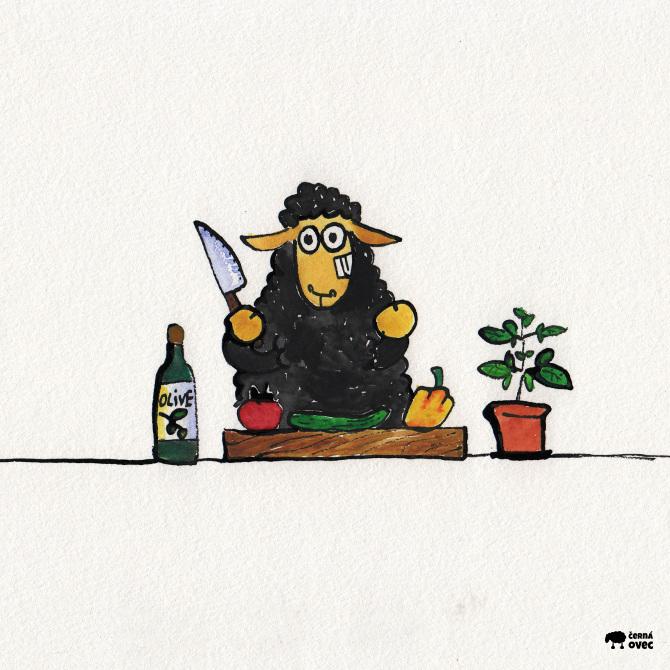 dnes vaří ovec, ilustrace
