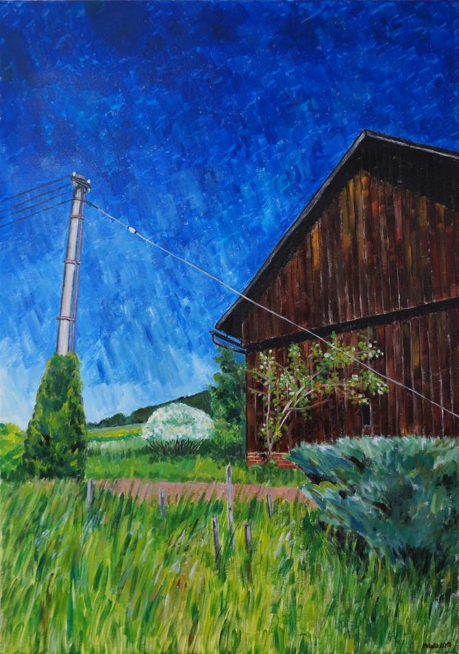obraz Pod stodolou