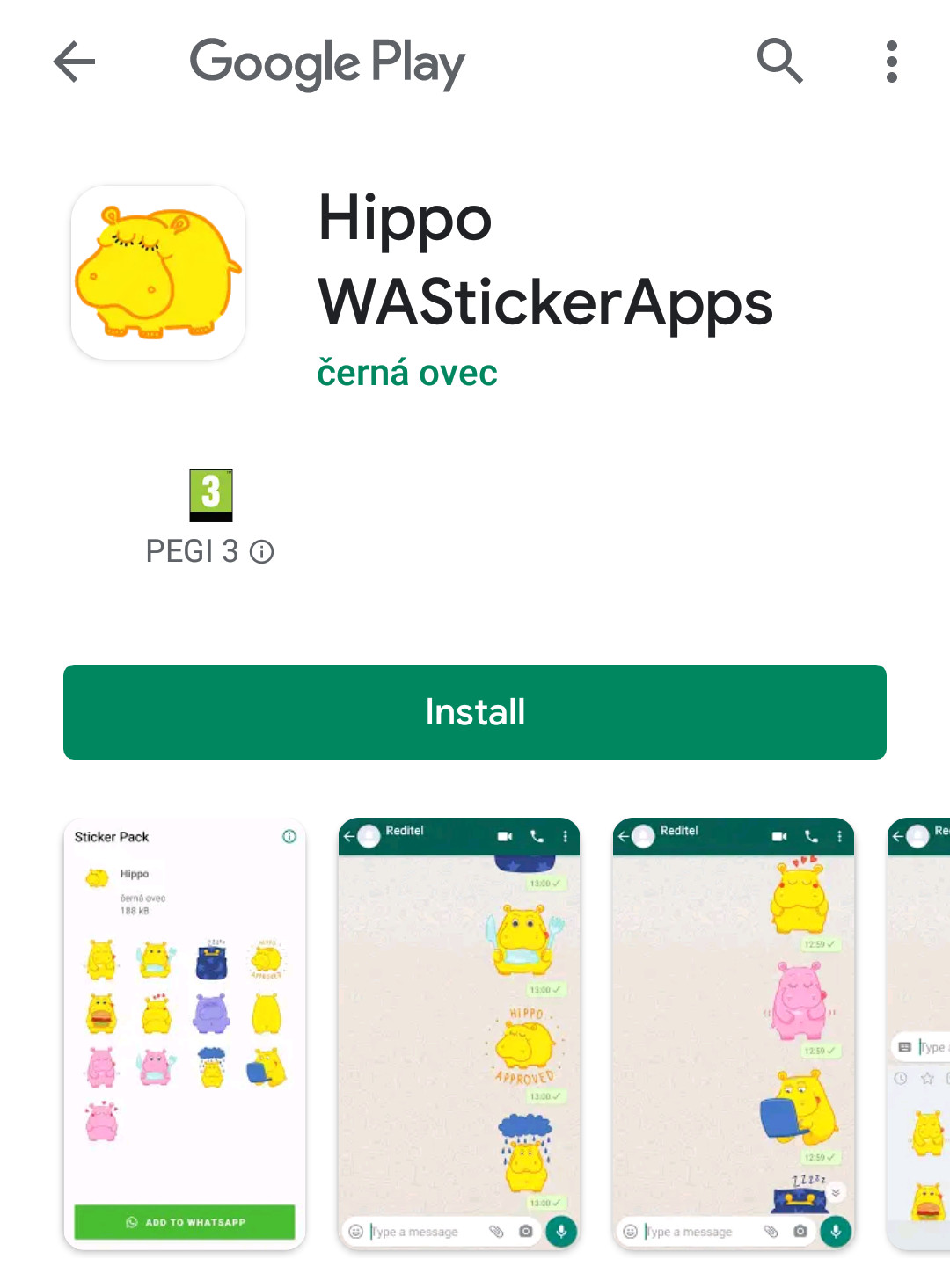 Hippo stickers for Whatsapp